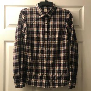 "Women's Plaid J.Crew ""The Perfect Shirt"""